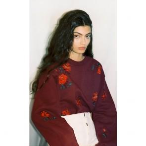 Rose Embroidered Sweatshirt